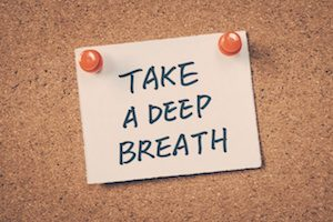 Take a deep breath reminder note