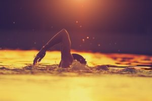 Determined Swimming