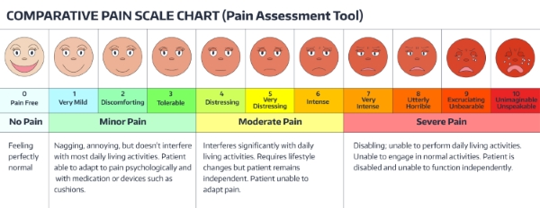 Comparative Pain Assessment Chart